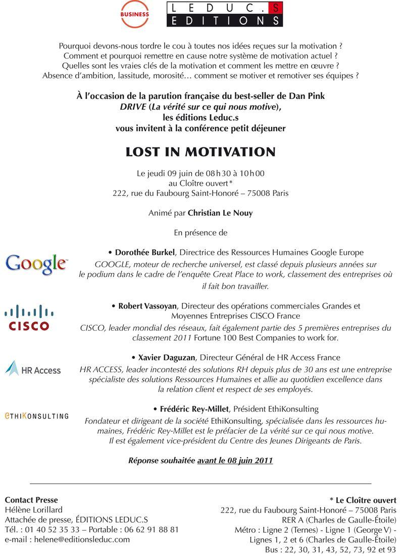 Invitation LostinMotivation
