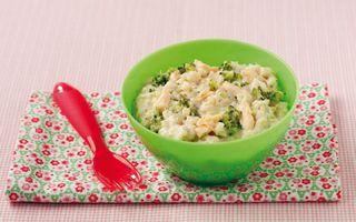 risotto courgette saumon pour bebe