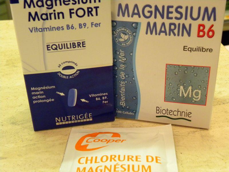 Chlorure magnésium et magnésium marin