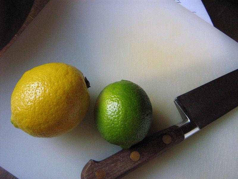 Citrons jaune et vert