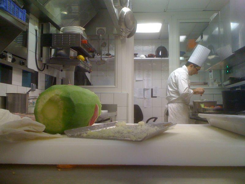 Radis green meat (comme du raifort ou du wasabi)